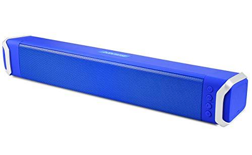 Mini Soundbar, POPCHOSE 16.5 Inch Powerful Bluetooth Sound Bar 2.0 Channel Mini Portable Super Bass Stereo Audio Computer Speakers for Computer PC Tablet TV