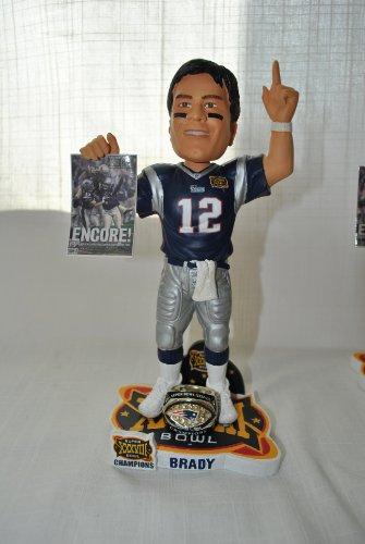 New England patriots 10 inch NFL Super Bowl Tom Brady #12 Championship bobblehead by forever