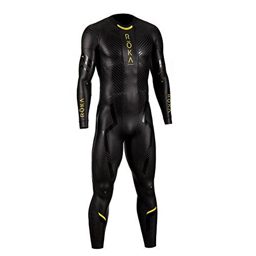 ROKA Maverick Pro II Men's Wetsuit for Swimming and Triathlons - Black/Acid Lime - Medium (M)