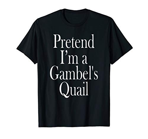 Gambel's Quail Costume Shirt for the Last Minute