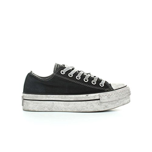 Ltd Nero Canvas In Donna Smoke Eu Ox Star Black Converse All 39 Sneakers Tessuto Platform wBxfwUq