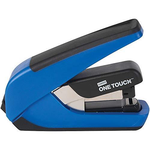 Desktop Half Strip - Staples 970814 One-Touch CX-4 Compact Desktop Stapler Half-Strip Capacity Blue
