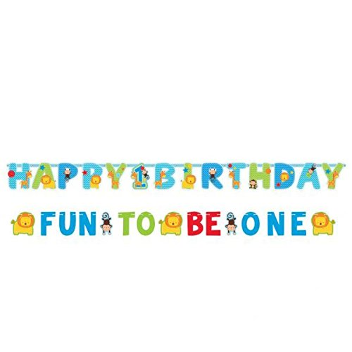 One Wild Boy Birthday Party Jumbo Letter Banner