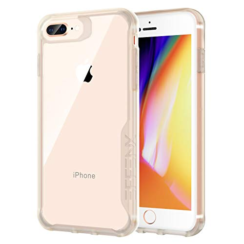 EFFENX iPhone 7 Plus Case/iPhone 8 Plus Case, Shock Absorbent Air Cushion Technology, Soft TPU Bumper with Crystal Clear Back, Fit for Apple iPhone 6Plus/ 6sPlus or 7Plus/8Plus (Beige)