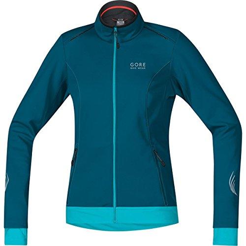 GORE BIKE WEAR Damen Warme Soft Shell Fahrrad-Jacke, GORE WINDSTOPPER, ELEMENT LADY WS SO Jacket, Größe: 36, Petrol/Türkis, JWELEL