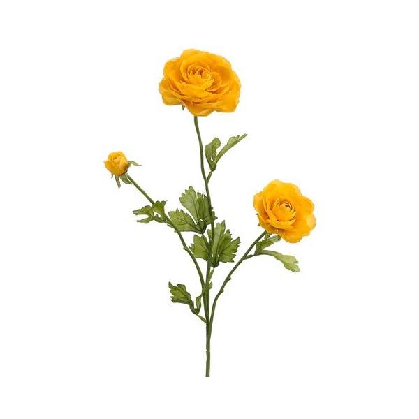 SilksAreForever 27″ Silk Ranunculus Flower Spray -Yellow (Pack of 12)