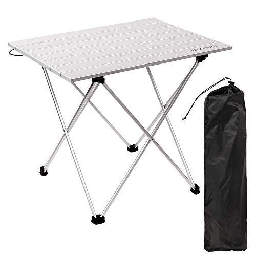 REDCAMP Folding Camping Tables That Fold Up, Lightweight Portable Aluminum Camp Table Roll Up for Outdoor Beach Picnic with Storage Bag