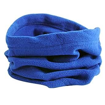 D DOLITY Trendy Polar Fleece Neck Warmer Comfy Snood Scarf Ski Motorbike Mask Royal Blue