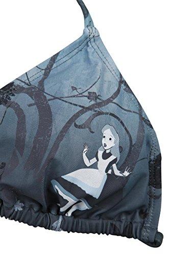 Alice in Wonderland Gothic Damen Bikini Allover