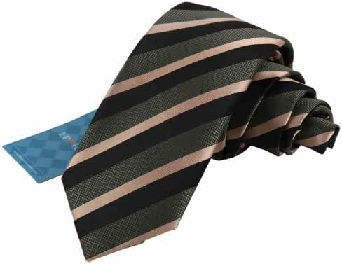 EAE1A05 Multicolored Silk Mens Striped Skinny Tie Gift for Holidays By Epoint