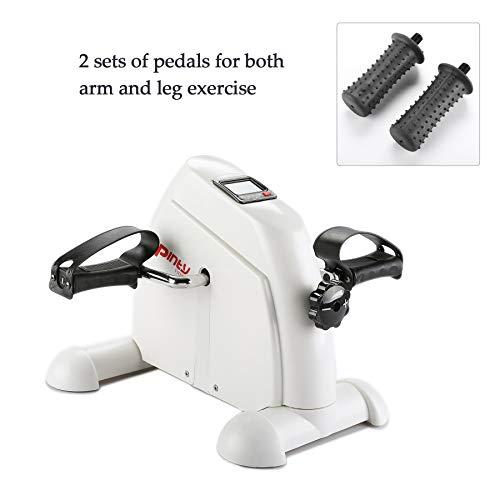 Pinty Mini Exercise Bike Pedal Exerciser Portable Cycle Lightweight (White)