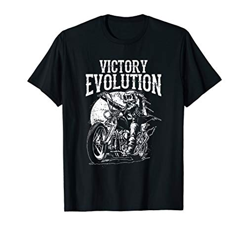 Funny Skull Ride Motorcycle Evolution Gifts For Dad t-shirt