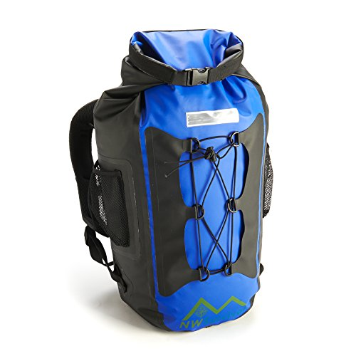 Equipped Outdoors Lightweight Camping Dry Pack Waterproof Backpack, Blue