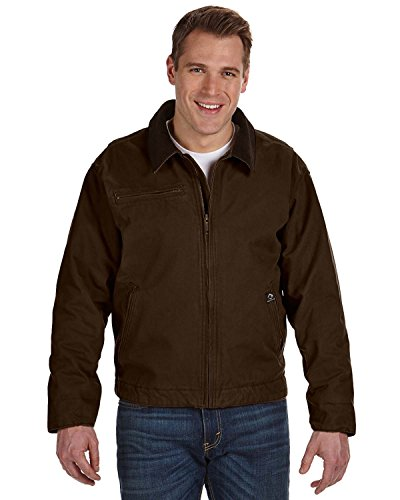 Cotton Canvas Jacket (Dri Duck Mens Outlaw Jacket (DD5087) -TOBACCO -M)