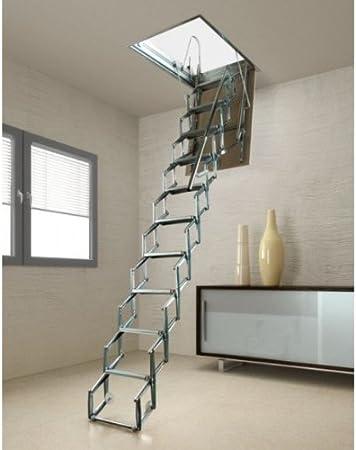 Escalera rectangular de techo ACI SVEZIA 90 x 70 altura 270/300 cm: Amazon.es: Bricolaje y herramientas