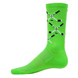 Red Lion Blades Zany Athletic Crew Socks ( Neon Green - Small )