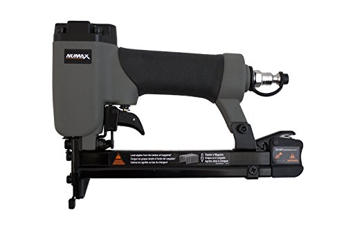 NuMax SFWS 20 Gauge Pneumatic Fine Wire Stapler, Gray & Black Air Powered Nailers