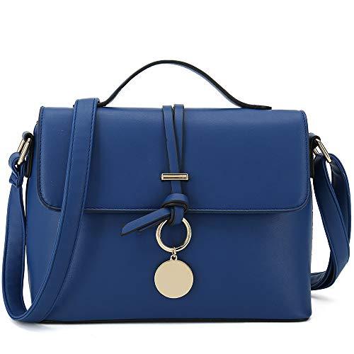 Stylish Cross Body Purses For Women Fashion Shoulder Bag Ladies Designer Handbag (Blue) ()