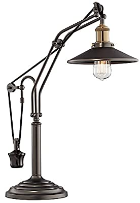 Emile Oiled Rubbed Bronze Metal Desk Lamp