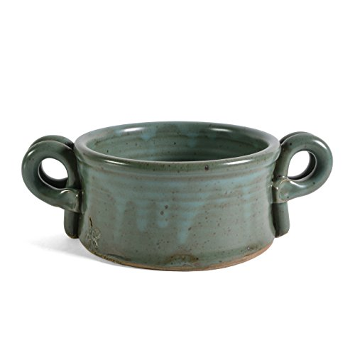 Anthony Stoneware Handled Soup Crock, Teal