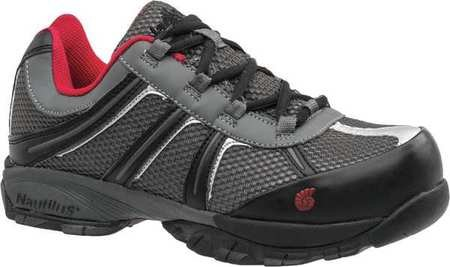 Athletic Style Work Shoes, Men, 13W, Gry, PR