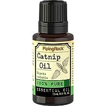 Piping Rock Catnip 100% Pure Essential Oil 1/2 oz (15 ml) Dropper Bottle Nepeta Cataria Therapeutic Grade