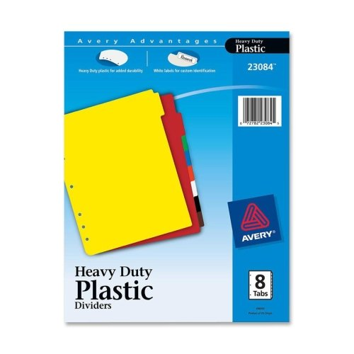 Wholesale CASE of 25 - Avery Plastic Tab Dividers w/Labels-P