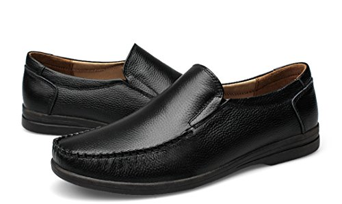TDA ,  Herren Durchgängies Plateau Sandalen mit Keilabsatz , schwarz - schwarz - Größe: 43
