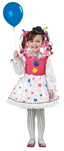 Cutsie Clown Toddler Girls Costume Size (Colorful Clown Toddler Costumes)