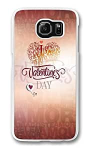 Feb 14 valentine's day Polycarbonate Hard Case Cover for Samsung S6/Samsung Galaxy S6 Transparent Kimberly Kurzendoerfer
