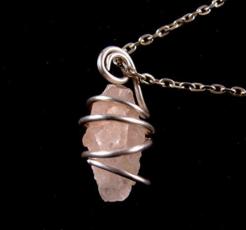 RARE HIMALAYAN ICE Nirvana Quartz Crystal Pendant From India Sterling Silver #5