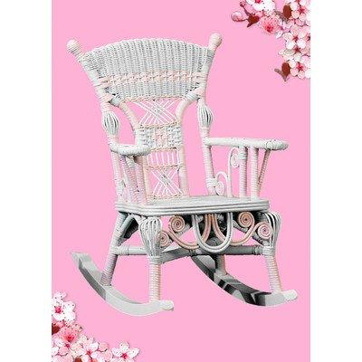 Yesteryear Wicker Victorian Millie Child's Cotton Rocking Chair Finish: Pink/White (Victorian Wicker Rocking Chair)