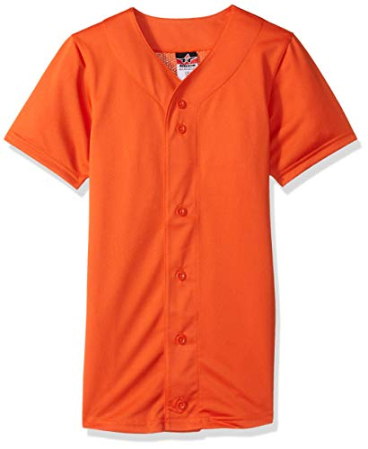 Alleson Athletic Teen-Boys Youth Baseball Jersey, Orange, X-Large by Alleson Athletic