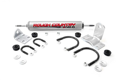 Rough Country - 87355.20 - Steering Stabilizer w/ Premium N2.0 Shock for Chevrolet: 69-72 1/2-Ton Pickup 4WD, 69-72 1/2-Ton Suburban 4WD, 69-72 3/4-Ton Pickup 4WD, 69-72 Blazer 4WD; GMC: 69-72 1/2-... (1/2 3/4 Ton Pickup)