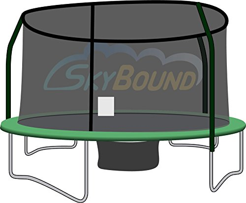 Trampoline-Net-For-JumpKing-Bazoongi-Orbounder-12ft-Round-Frames-Fits-4-Pole-Top-Ring