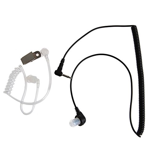 Kocome 3.5MM Plug Port Listen Only Headset Earpiece Single Earphone Clear Acoustic Tube