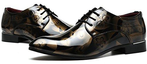 Ppxid Mens British Spetsig Tå Snörning Tillfälliga Klänning Mode Skor (stor Storlek Finns) Gul
