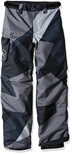 Under Armour Boys' Storm Chutes Insulated Pants, Steel/Black, Youth X-Large (Steel Chute)