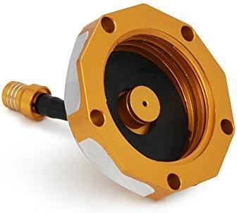Fast Pro CNC /à gaz du r/éservoir de Carburant Cap Cover sans cl/é en Aluminium Billet Twist Off pour Suzuki RM 85/125/250/Z250/Z450/RMX 450z Rouge