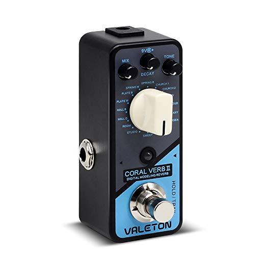 Valeton Coral Verb II Digital Reverb Guitar Effects Pedal (Best Reverb Pedal 2019)