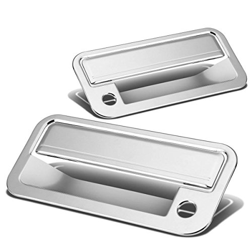 Chevy C/K Series/Tahoe/GMC Yukon 2pcs Exterior Door Handle Cover with Passenger Keyhole (Chrome) (92 93 Chevy C/k Truck)