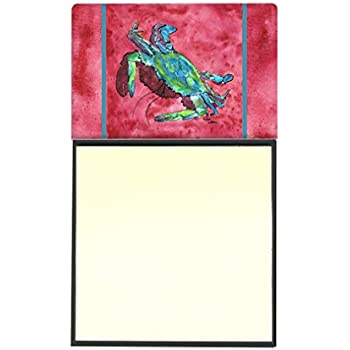 Multicolor Carolines Treasures Crab Seafood One Refillable Sticky Note Holder or Postit Note Dispenser 3.25 by 5.5