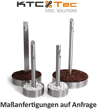 Bordo per aiuole 400 mm KTC Tec PR400 in acciaio inox V2A