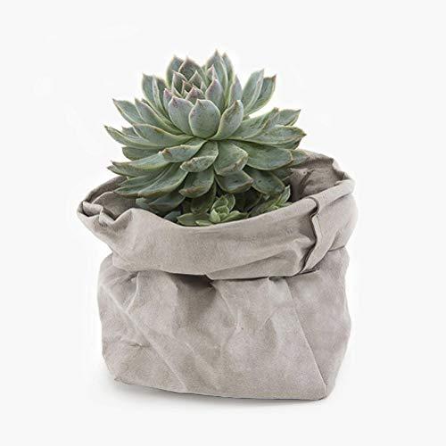 VORCOOL Washable Kraft Paper Container Reusable Paper Bag Flowerpot Planter Bags - Planters Kraft