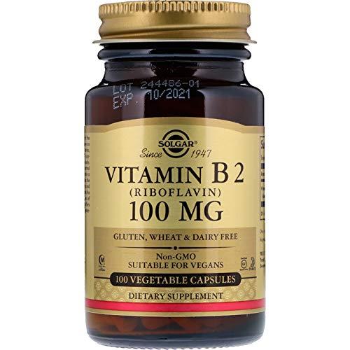 Solgar - Vitamin B2 (Riboflavin) 100 mg, 100 Vegetable Capsules