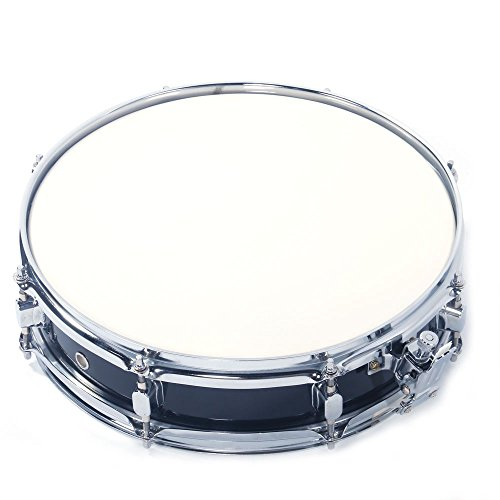 - BinSpostar 13x3.5 inch Black Snare Drum Student Beginner Steel Piccolo Snare Drum Set w/Drum Key Drumsticks and Strap