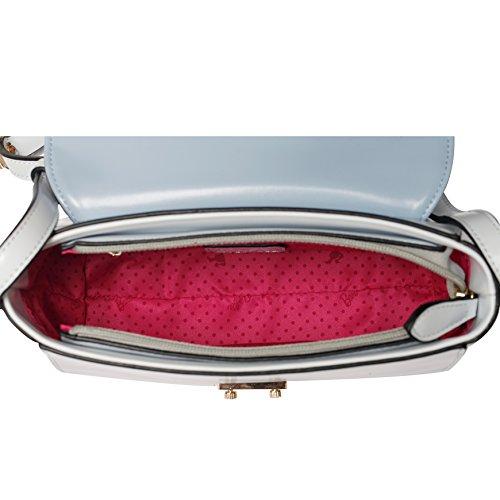Barbie Bolso bandolera y baguette elegante de estilo chicas bolso casual con hebilla para mujer BBFB565 24x15x9CM Azul