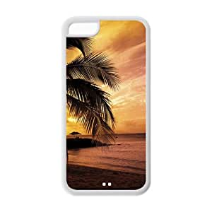 Stylish Hawaii Design Rubber TPU Protector for Iphone 5C