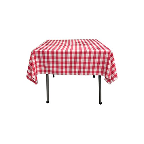 lovemyfabric Gingham/Checkered Square Cotton Blend Italian Restaurant Style Overlay/Tablecloth for Picnic and Park Party (36