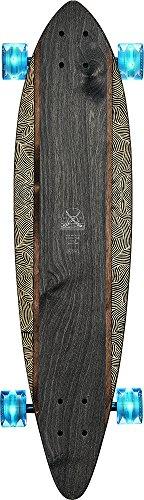 Carver Longboard (GLOBE HG Globe Pintail Longboard Complete Skateboard, Moonlighting, Size 34)
